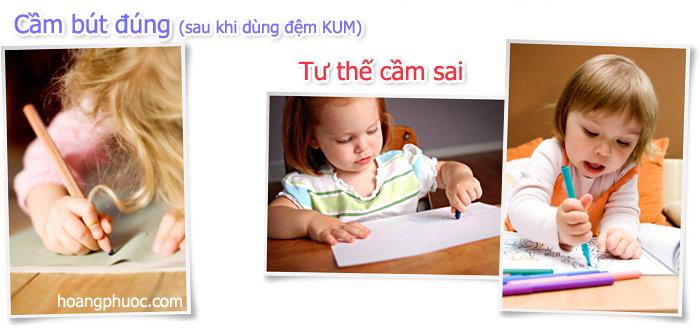Miếng đệm tay KUM - Tiện ích cho bé tập viết - 6