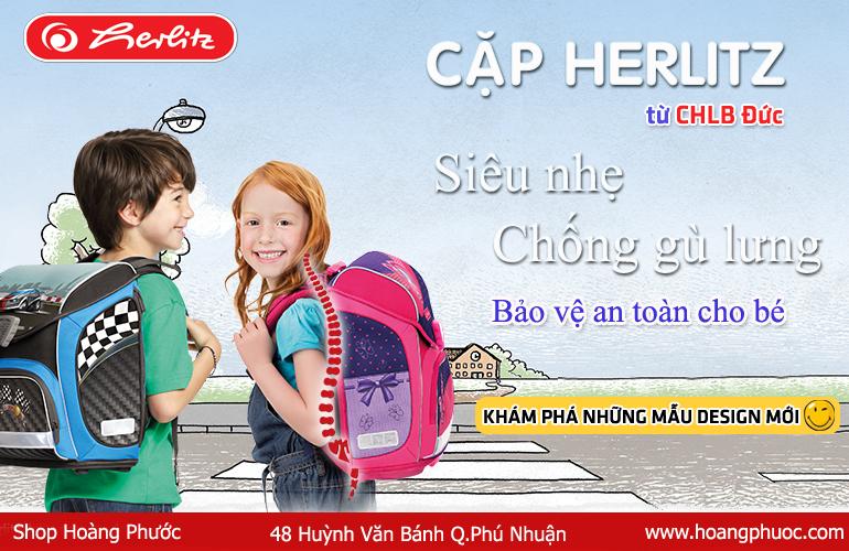 Cặp học sinh siêu nhẹ, cặp chống gù lưng Herlitz của Đức, Đồ dùng học tập nhập khẩu từ Đức - 3