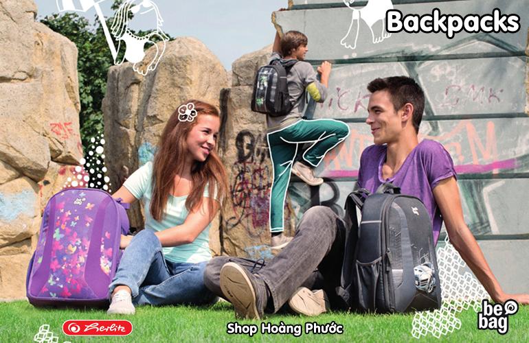Cặp học sinh siêu nhẹ, cặp chống gù lưng Herlitz của Đức, Đồ dùng học tập nhập khẩu từ Đức - 4